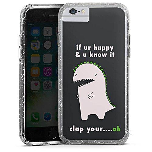 Apple iPhone X Bumper Hülle Bumper Case Glitzer Hülle Statement Spruch Phrase Bumper Case Glitzer silber