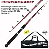 #1: Fishing 9 Feet Telescopic Rod, Free Travelling Bag