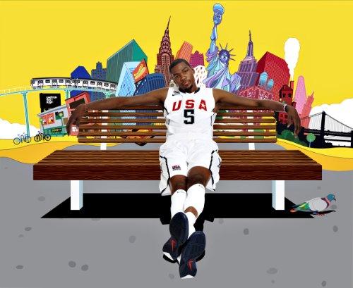 Kevin Durant OKC Thunder Basketball Limited, Foto, 8 x 10 cm, Nr. 5