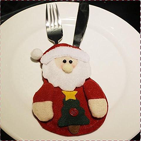 Set coltello e forchetta articoli di Natale