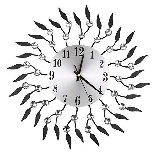 YEARNLY Moderne Mute DIY große Lautlos Wanduhr 3D Aufkleber Wandaufkleber Dekorative Digitale Uhr im Blume-Design ohne Tickgeräusche Wohnzimmer Wandtatoo Home Office Decor Geschenk