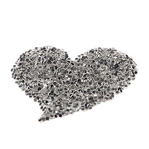 Gleader 1440pcs DIY Strass Thermocollant Hotfix Diament crystal transparent S10