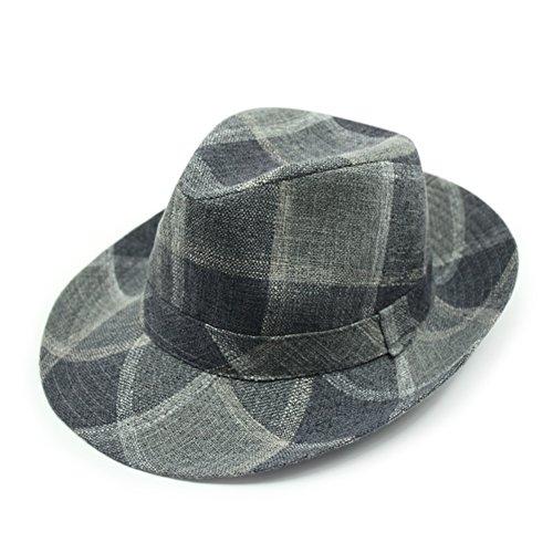 mode gros chapeau pour les hommes et les femmes/La version coréenne du printemps et automne chapeau de coton rayé/Chapeaux de Jazz de loisirs/couple Chapeaux I