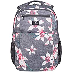 Roxy Here You Are Mochila Mediana, Mujer, Rosa/Gris (Charcoal Heather Flower Field), 23.5 l