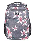 Roxy Here You Are Sac à dos moyenne femme Femme ERJBP03745 _rosa Rose / gris (charcoal heather flower field) 23.5 l