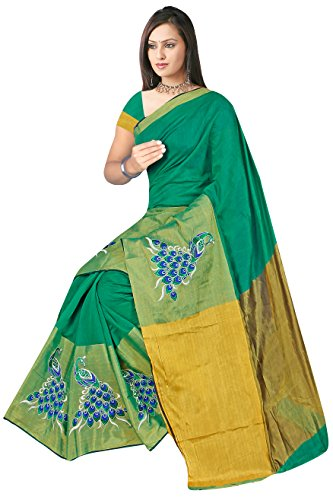 Indian Fashionista Women's Patola Brasso Saree with unstiched Blouse Piece