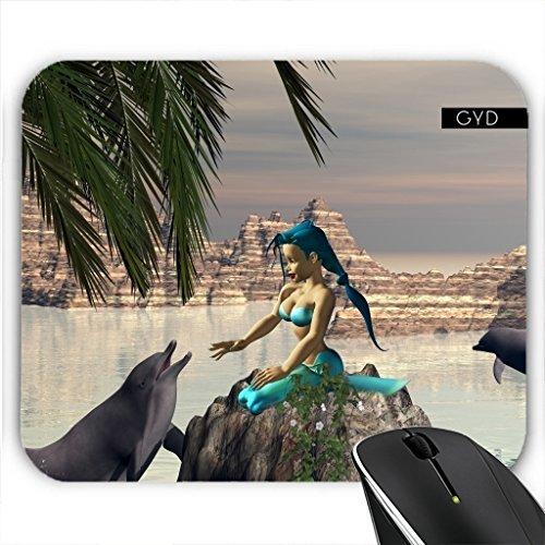 Mousepad - Meerjungfrau Und Delphin by nicky2342