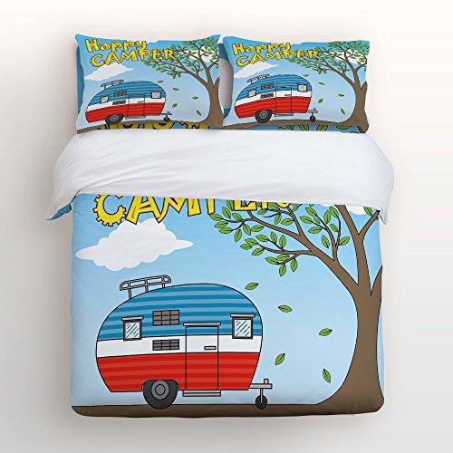 Fantasy Star 4Stück Soft Home Tröster Bettwäsche Set One Seite Print Bettbezug Set, beinhaltet 1Bettlaken 1Spannbetttuch und 2Kissenbezüge King Size Multicolor-3 -