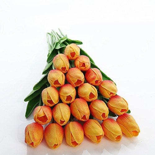 JUSTOYOU Tulip Real, Flores Artificiales para Ramos de Boda, hogar, Hotel, decoración de jardín,...
