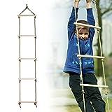 Juguetes deportivos para niños para juegos de juegos, fitness, deportes, para niños, para uso en interiores y exteriores, jardín, patio Climbing Rope Ladder