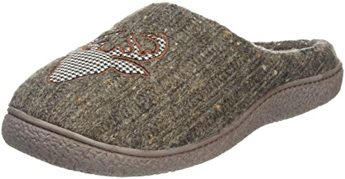 isotoner-mens-novelty-chaussons-mules-homme-gris-taupe-s
