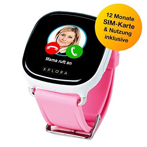 XPLORA-Telefonuhr für Kinder, Inklusive 12 Monate Telefonie, Internet und XPLORA-Dienste (Nur FÜR KUNDEN in Deutschland) … (Weiss)