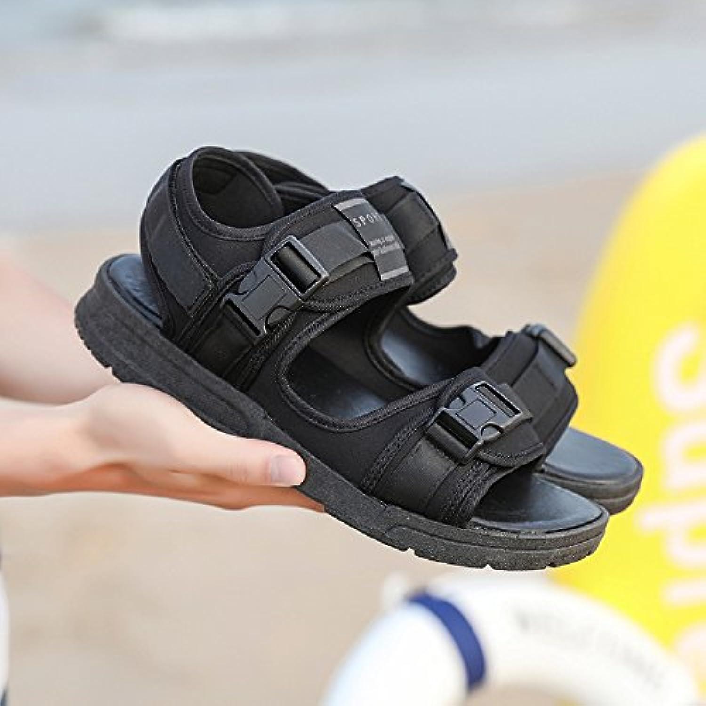 Donyyyy Sandalias de playa casual verano hombres zapatillas antideslizante exterior,178-3 negro,44