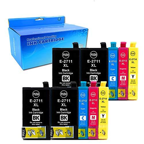 10x (4 Nero, 2 Ciano, 2 Magenta, 2 Giallo) Cartucce d'inchiostro Epson 27XL 27 Compatibile per Epson WorkForce WF-7610 WF-7620 WF-3620 WF-3640 WF-7110 WF-7710 WF-7715 WF-7720 WF-7210