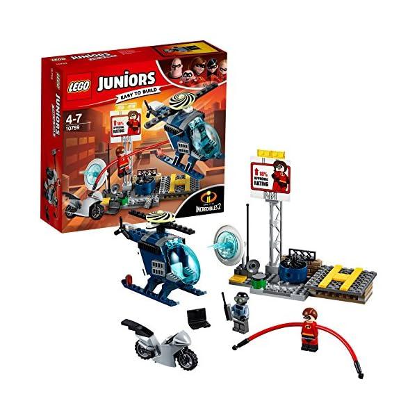 LEGO- Juniors Set Mattoncini Inseguimento sul Tetto di elastigirl, Multicolore, 10759 1 spesavip