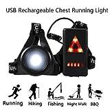 Luce di marcia a torace ricaricabile USB.Torcia a LED con triangolo.Testa- ciclismo, arrampicata, campeggio, passeggiate con il cane, escursionismo, pesca, lettura notturna, equitazione807007