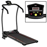 Bodyfit Motorised Electric Treadmill Folding Running Machine, LED Screen 3 Programs Max Speed 10km/h, Folds Away Home Office Use (With Arms)