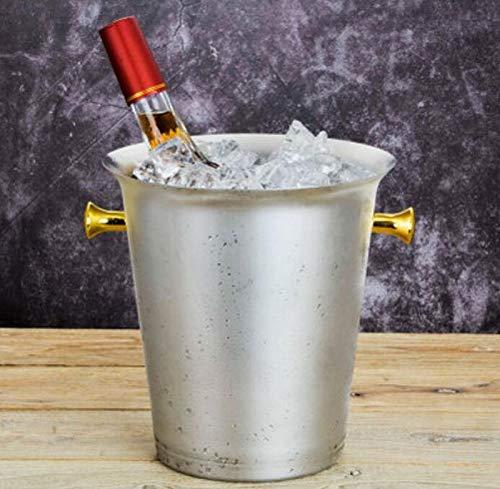 LJNBT Eiskübel Edelstahl Luxus Klassische Große Bier Eis Eimer Champagner Eimer Spieß Barrel 5L (Luxus-eis-eimer)