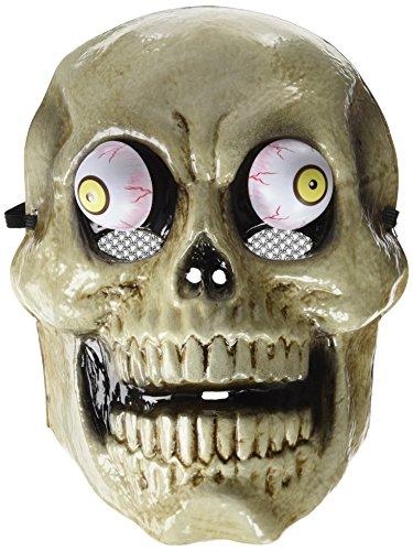 Rubies- Mascara skull con ojos móviles, talla única (Rubie's Spain S5131)