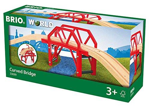 BRIO 33699 - Bahnbrücke mit Auffahrten, bunt