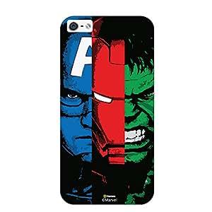Hamee Original Marvel Character Licensed Designer Cover Slim Fit Plastic Hard Back Case for iPhone 5 / 5s / SE / 5SE ( Captain America Iron Man Hulk )