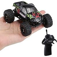 Virhuck 1:32 Scale RC Monster Truck, 2.4GHz 2WD Radio Télécommande Buggy Big Wheel Off-Road Vehicle - Noir