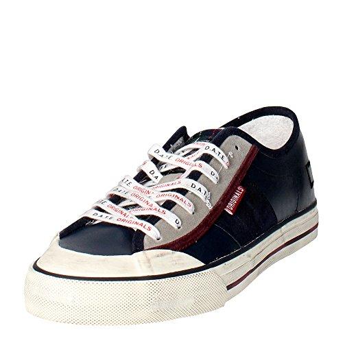 D.a.t.e. TENDER2 Sneakers Homme Cuir Vert Foncé Bleu