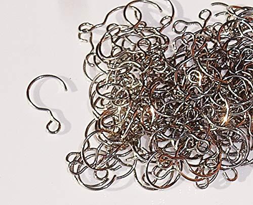 Chrom S Form Haken und Schnallen in Metall zum Aufhängen Kronleuchter Girlanden Kristalle Tropfen Lampe Teile Komponenten Beleuchtung oder zum Hängen Crafts silber 160 Small S-Hooks 18mm
