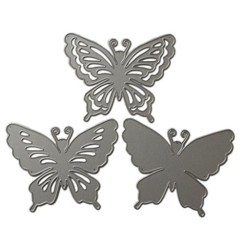 Lifet - Fustelle a Forma di Farfalla, per Scrapbooking, Album di Carta, Cartoline Artigianali, per Sizzix Big Shot/Cuttlebug/e Altre Macchine da Disegno