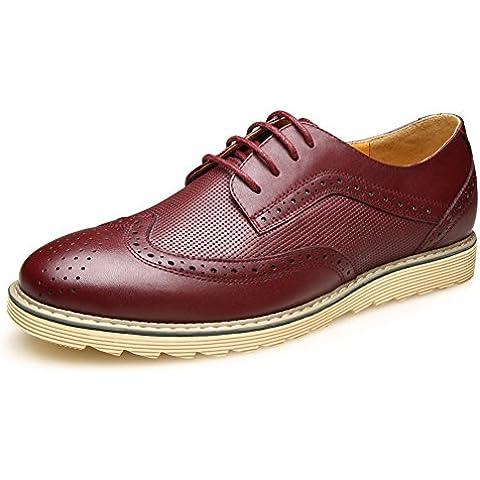 KIU zapatos de la marea de otoño Inglaterra/Bullock tallada manera de los hombres de gama alta/Zapatos Casual hombres/ zapatos de vestir