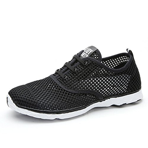 Men's Breathable Lightweight Slip On Outdoor Running Shoes Black