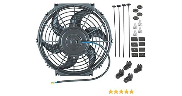 American V SOLO 10/Inch elettrico ventola 12/V Automotive Radiatore di Raffreddamento 80/W Motore 900/CFM
