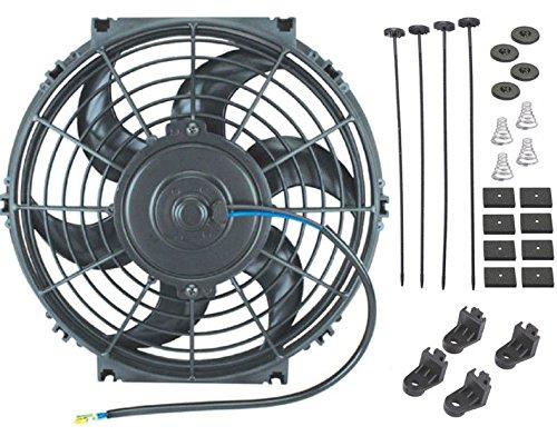 'American V nur 10inch Elektro Ventilator 12V Automotive Heizkörper Kühlung 80W Motor 900CFM - Cfm-motor