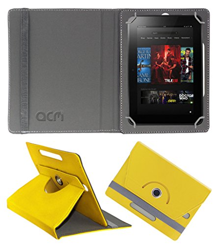 Acm Rotating 360° Leather Flip Case for Amazon Kindle Fire Hd 8.9 Cover Stand Yellow  available at amazon for Rs.179