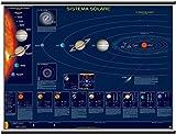 Sistema Solare Poster di Astronomia Murale [132x99 cm] Belletti