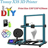 Tronxy X3S 3D-Drucker Bausatz DIY 3D Drucker Kit Metall Mit Large LCD Screen & Aluminium Profile | Dual Z Screws Double Fans Printing Size 330 x 330 x 420mm