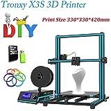 Tronxy X3S 3D-Drucker Bausatz DIY 3D Drucker Kit Metall Mit Large LCD Screen & Aluminium Profile | Dual Z Screws Double Fans Printing Size 330 x 330 x 420mm