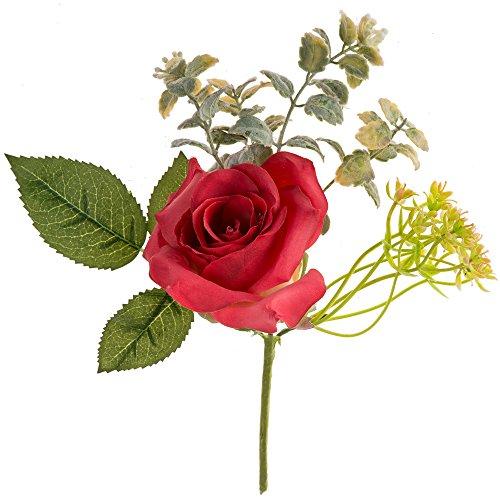 Artificiel mariage rose Pivoine Faux fleur Artificielles Decoration Mariage Fausse Bouquet de Centre de Table pour Decoration Cuisine Maison Jardin D