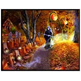 Halloween 30x25cm Mosstars Voller Diamant Malerei 5D Embroidery Paintings Rhinestone Sweet Home Embroidery Painting Diamond Weihnachten Cross Stitch Wall Decorations Diamond Picture Cross Stitch Kit