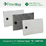 3 - Holmes Type E HWF100, Bionaire BWF100 Humidifier Replacement Filters. Designed by FilterBuy to fit HM630, HM729G, HM7203, HM7203RV, HM7204, HM7808, HM7305, HM730RC, HM7306RC, HM7405 & HM7405RC. by FilterBuy