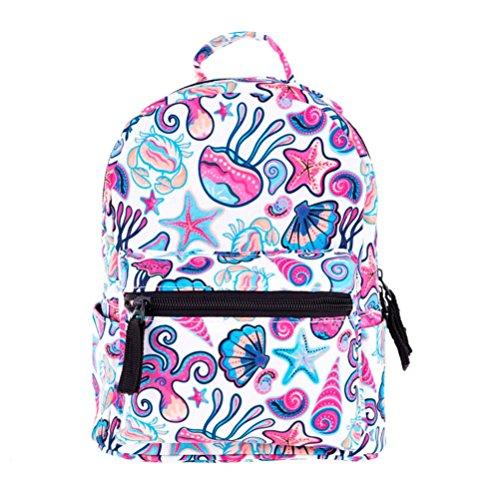 Byste nuovo bambini borsa,bambino stampa schoolbag zaino,mini zainetto borsa a tracolla borse da viaggio scuola ragazze borse a zainetto per bambine della ragazzo scuola elementare (g)