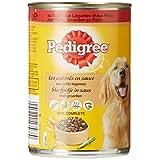 PEDIGREE - Les Cuisines En Sauce aux Petits Légumes - Au Boeuf, aux Légumes et aux Pâtes - 24 boîtes de 400 g