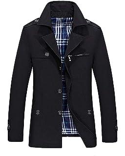 c42ab8a17e79 Homme Blouson Style Militaire Veste Masculine Manteau Col Montant Manches  Longues Jackets Veste Décontractée
