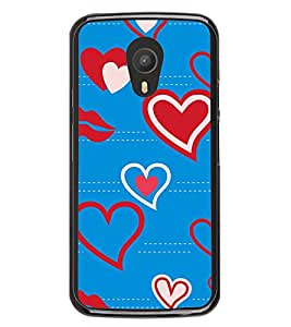 Heart and Lips Pattern 2D Hard Polycarbonate Designer Back Case Cover for Meizu M2 Note :: Meizu Blue Charm Note2