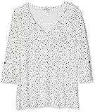 Gina Laura Große Größen Damen Sweatshirt Shirt Relaxed Auschnitt mit Schlitz, Blau (Sky 76), Large