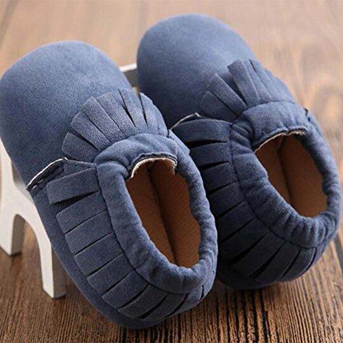 Baby Junge Mädchen Kleinkind Schuhe Weiche Sohle Säuglingsschuhe Dunkelblau
