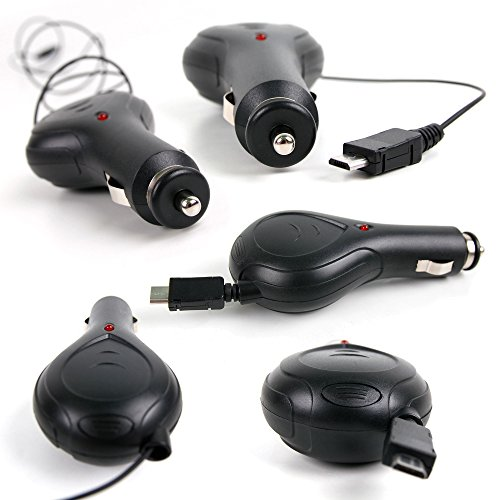 Duragadget Chargeur Voiture rétractable pour Blade 350 QX3, DJI Mavic Pro