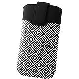 Handyschale24 Slim Case für Oukitel U2 Handytasche Karo Rauten Design Schutzhülle Tasche Cover Etui mit Magnetverschluss