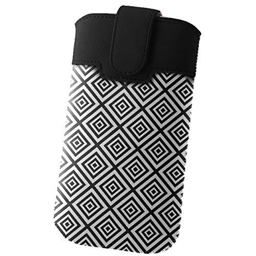 Handyschale24 Slim Case für BlackBerry Leap Handytasche Karo Rauten Design Schutzhülle Tasche Cover Etui mit Magnetverschluss