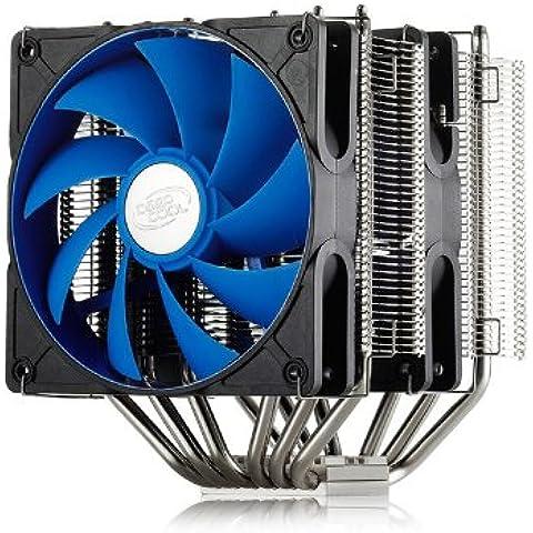 DEEPCOOL-Ventola per PC Tower NEPTWIN Heat Sink PRO con 2 Ventole di raffreddamento, tutti i PC e di raffreddamento per CPU, All In One, Dual Fan 120 mm, PWM Tower-Confezione da 6 tubi di calore ogni piattaforma